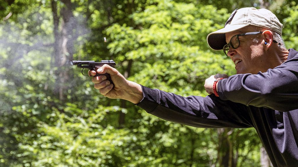 M. Close-range practical shooting was done at 3, 7 and 10 yards using the Bobcat Covert; shooting two center-mass and one head shot from the three distances with three brands of ammo.
