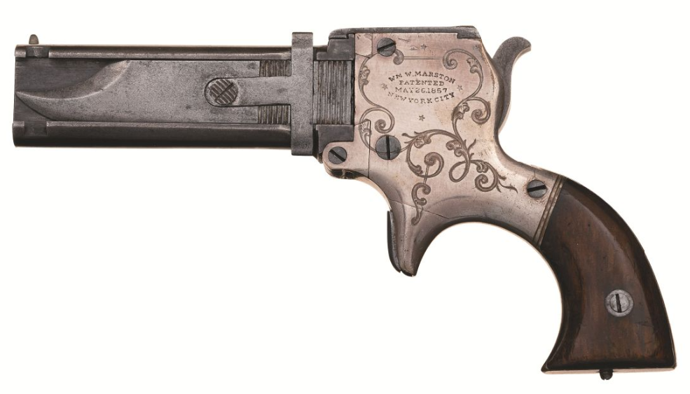 December 2020 Rock Island - Marston 3 barrel pistol with knife (