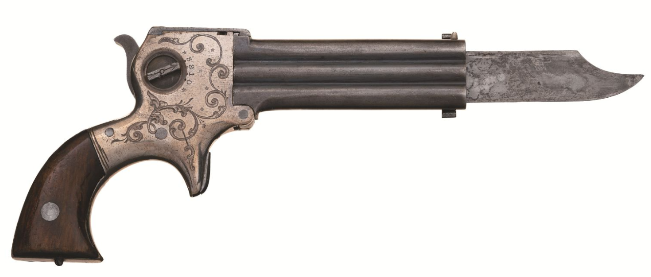 December 2020 Rock Island - Marston 3 barrel pistol with knife ( (3)