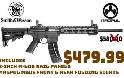 Daily Gun Deal: Smith & Wesson M&P 15-22 SportRifle .22LR Magpul MBUS sights $479.99