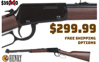 Gun Deals: Henry Classic Blued Lever Action Rifle – 22 Long Rifle $299.99 – FREE S&H
