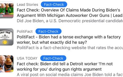How Social Media Fact Checkers Are Heping Biden Win the 'War on Guns'