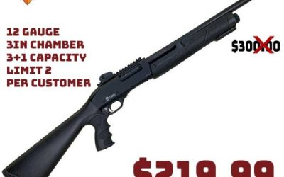 Gun Deals: Citadel CDA-12 Force Black 12 Gauge 3in Pump Shotgun $219.99