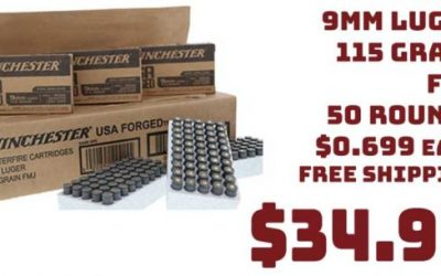 Ammo InStock: Winchester USA FORGED 9mm Luger 115Grn 50 Rounds $34.99 FREE S&H