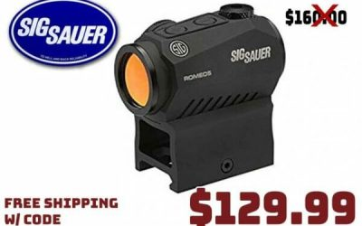 Daily Gun Deals: SIG SAUER ROMEO5 MOA Compact Red Dot Sight $129.99 FREE S&H CODE