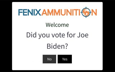 Fenix Ammunition Sends Biden Voters Away From Web Sales