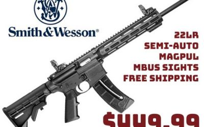 Guns InStock: Smith & Wesson M&P15-22 Semi-Auto Rifle in 22LR $449.99