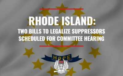 Rhode Island: Two Bills To Legalize Suppressors Scheduled For Committee Hearing