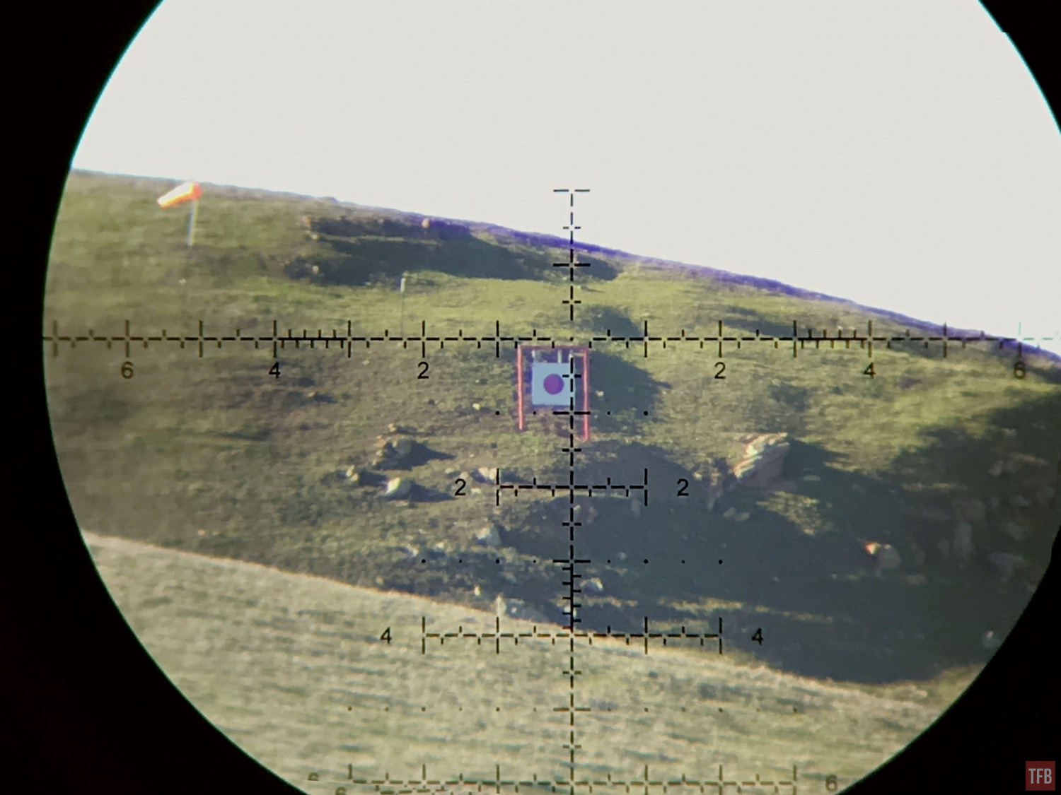 PR2 reticle looking at a mile target