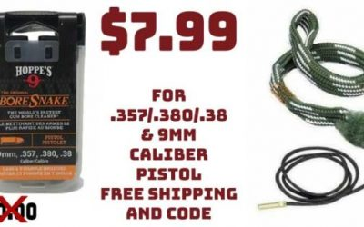 Hoppe's 9 Boresnake Bore Cleaner for .357/.380/.38 & 9mm just.. $7.99 FREE S&H