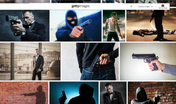 Getty Images Fails at Gun Safety Screen Grab 7-8-2021